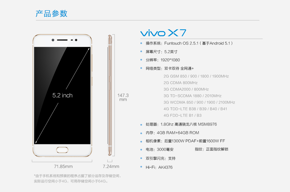 Buy Bbk Vivo X7 Cell Phone Online With Good Price