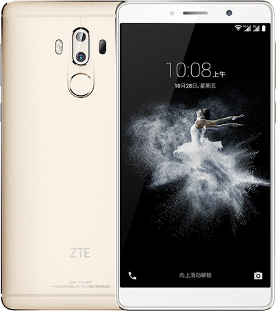 Zte AXON 7 Max Cell Phone Gold 6-Inch Brand New Original