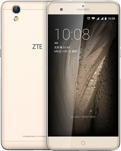 Zte V7 MAX Gold 5.5-Inch Cell Phone Brand New Original